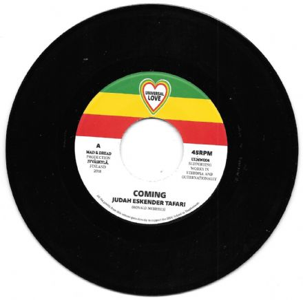 SALE ITEM - Judah Eskender Tafari - Coming / version (Universal Love) 7""
